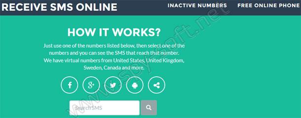 Виртуальный номер телефона для приема смс без регистрации
